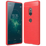 Flexi Slim Carbon Fibre Case for Sony Xperia XZ2 - Brushed Red